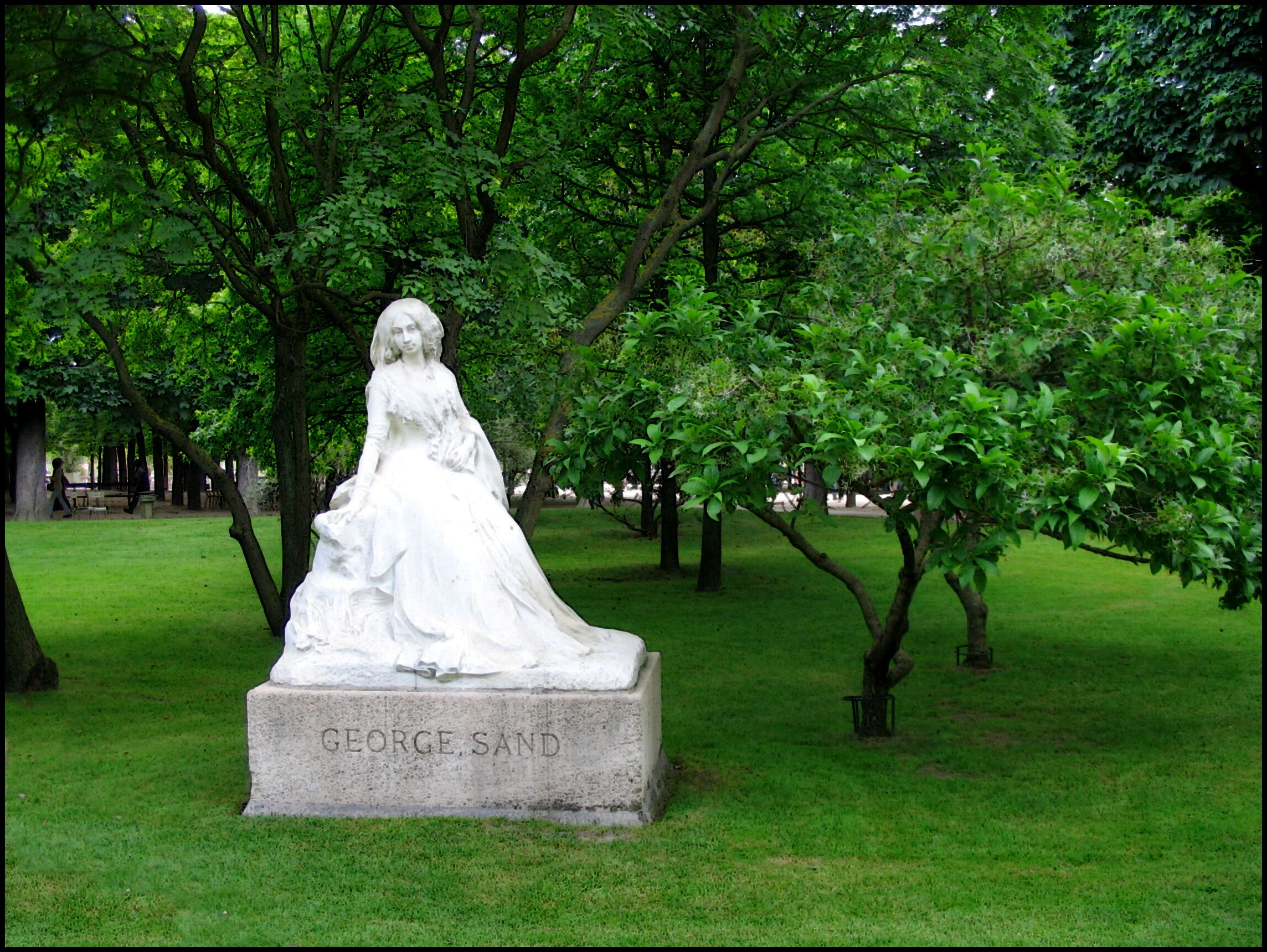 3989ed7cd54053d2303400160de7e396 - The Monument To Chopin In The Luxembourg Gardens