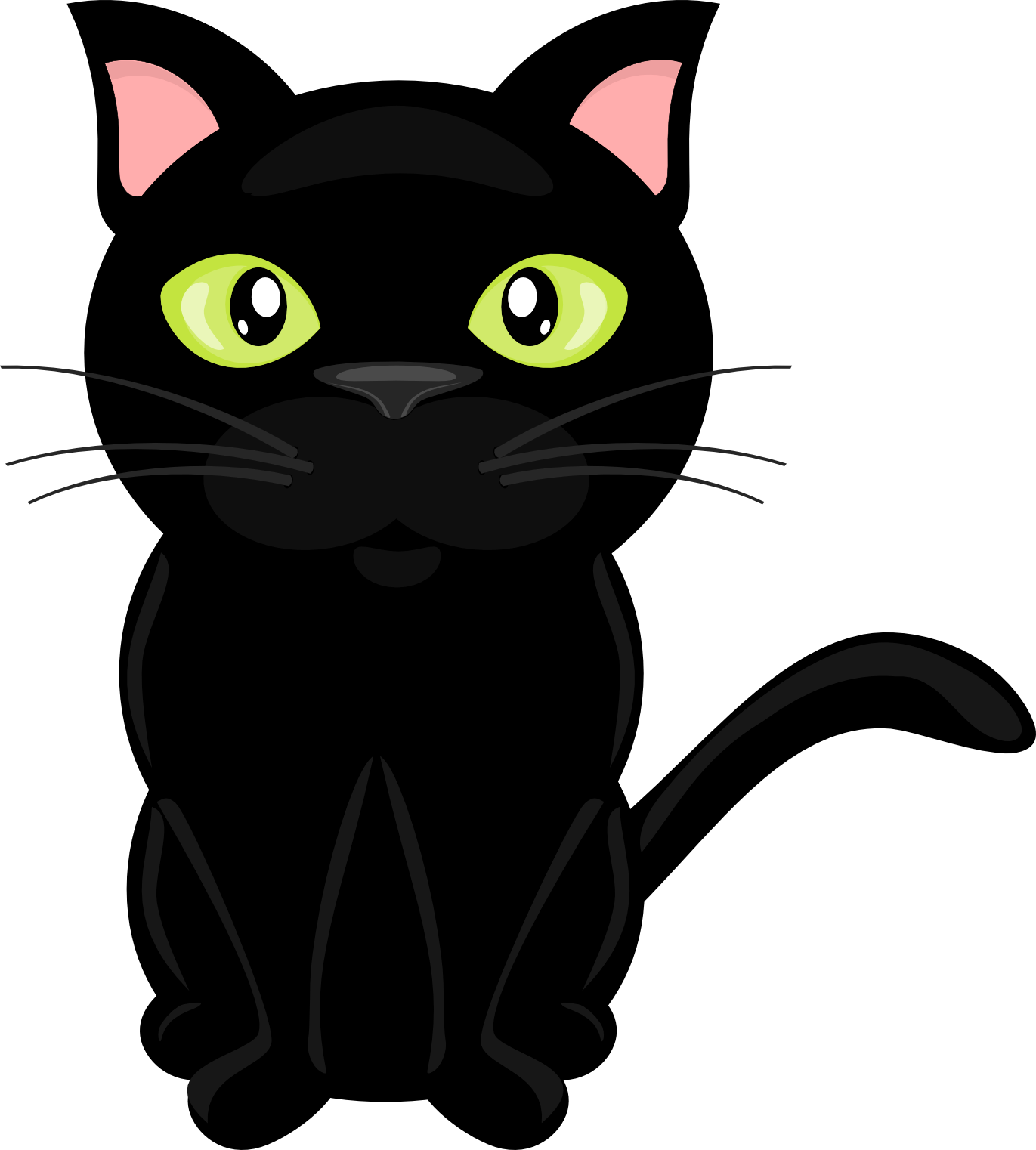 On The Farm ClipArt Cat clipart, Cat silhouette, Cute