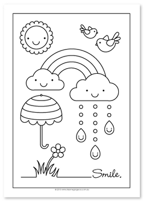 Rainbow coloring sheet - can we do these please Miss @Steph Bracher ...