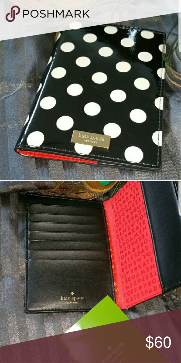 8121f5fb9607 Kate Spade Passport Holder Very classy, polka dot , patent leather passport  holder . Plenty of room for your credit cards and passport. kate spade Other