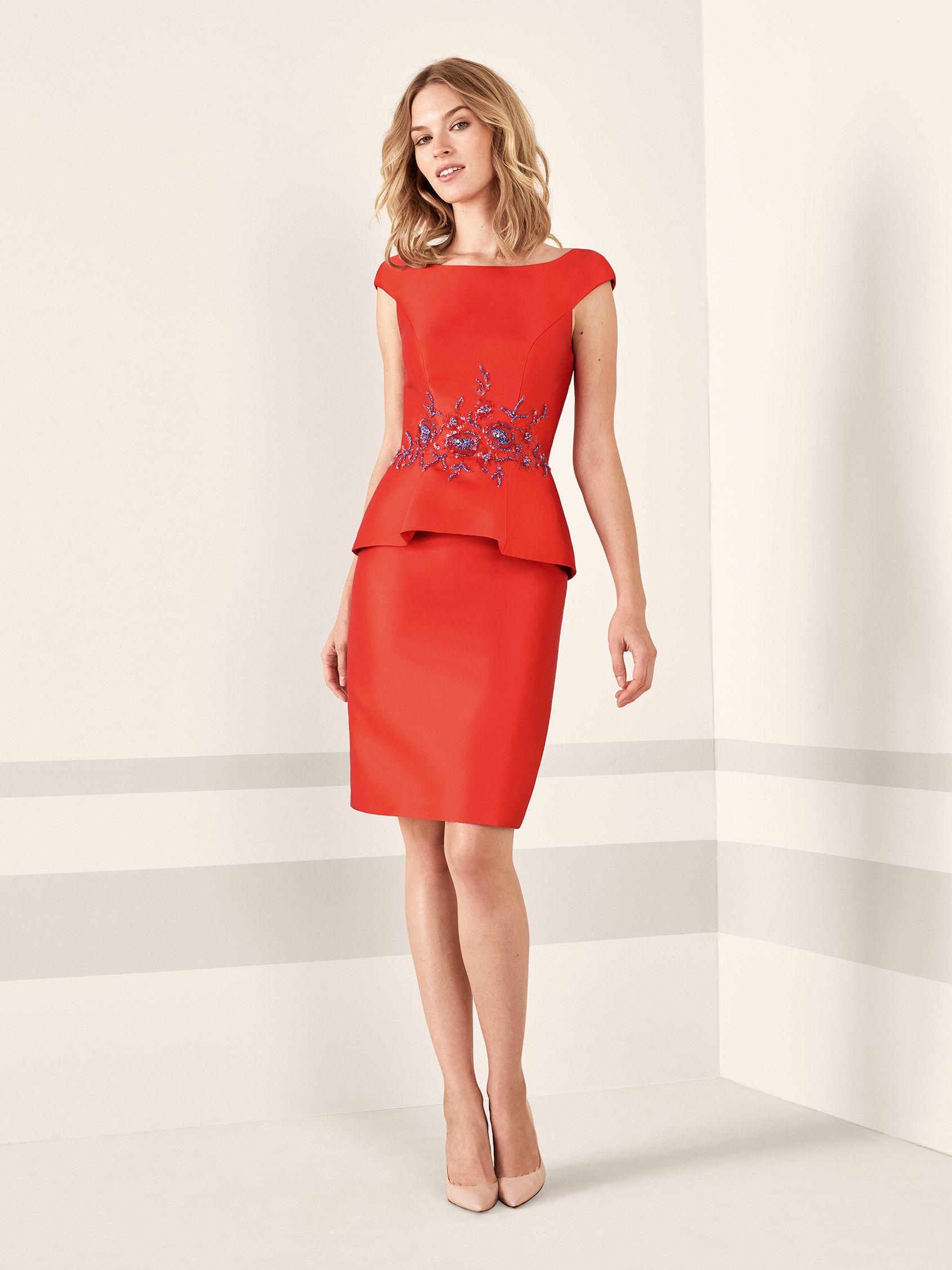 b9e232962 Vestido de cóctel rojo Pronovias 2019 FIESTA  modamujer  moda  fashion   vestidosdefiesta  vestidosdecoctel  vestidoslargos  vestidoscortos   primaveraverano ...