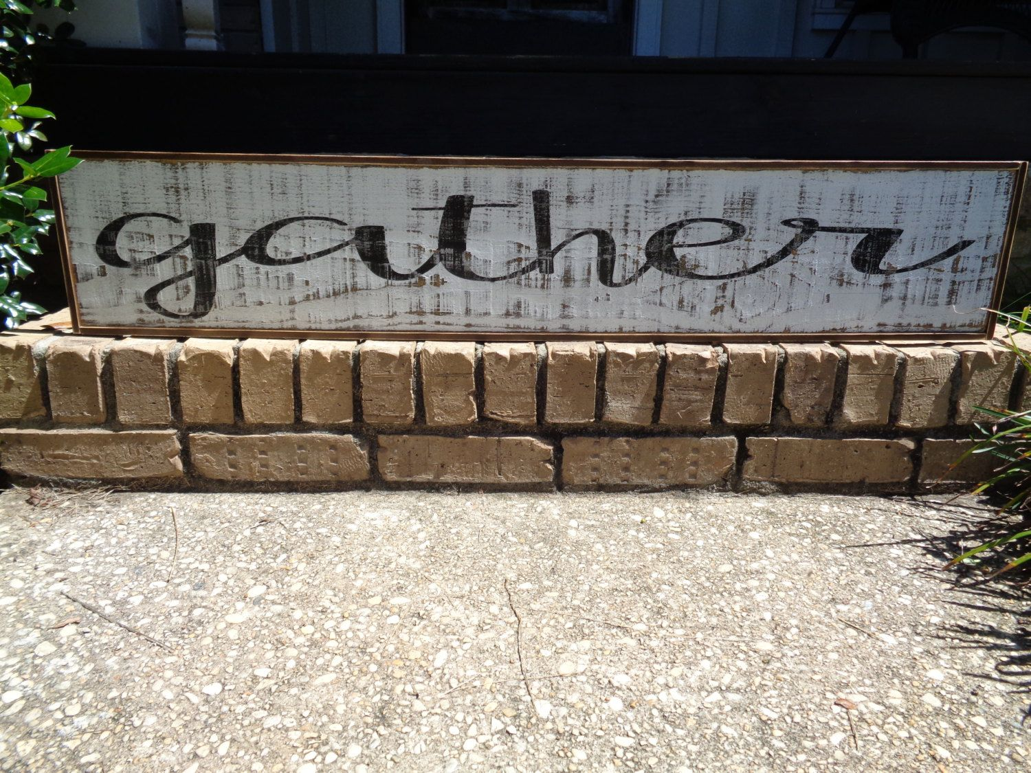 Wooden Wall Decor Signs : Gather sign kitchen signs fixer upper custom