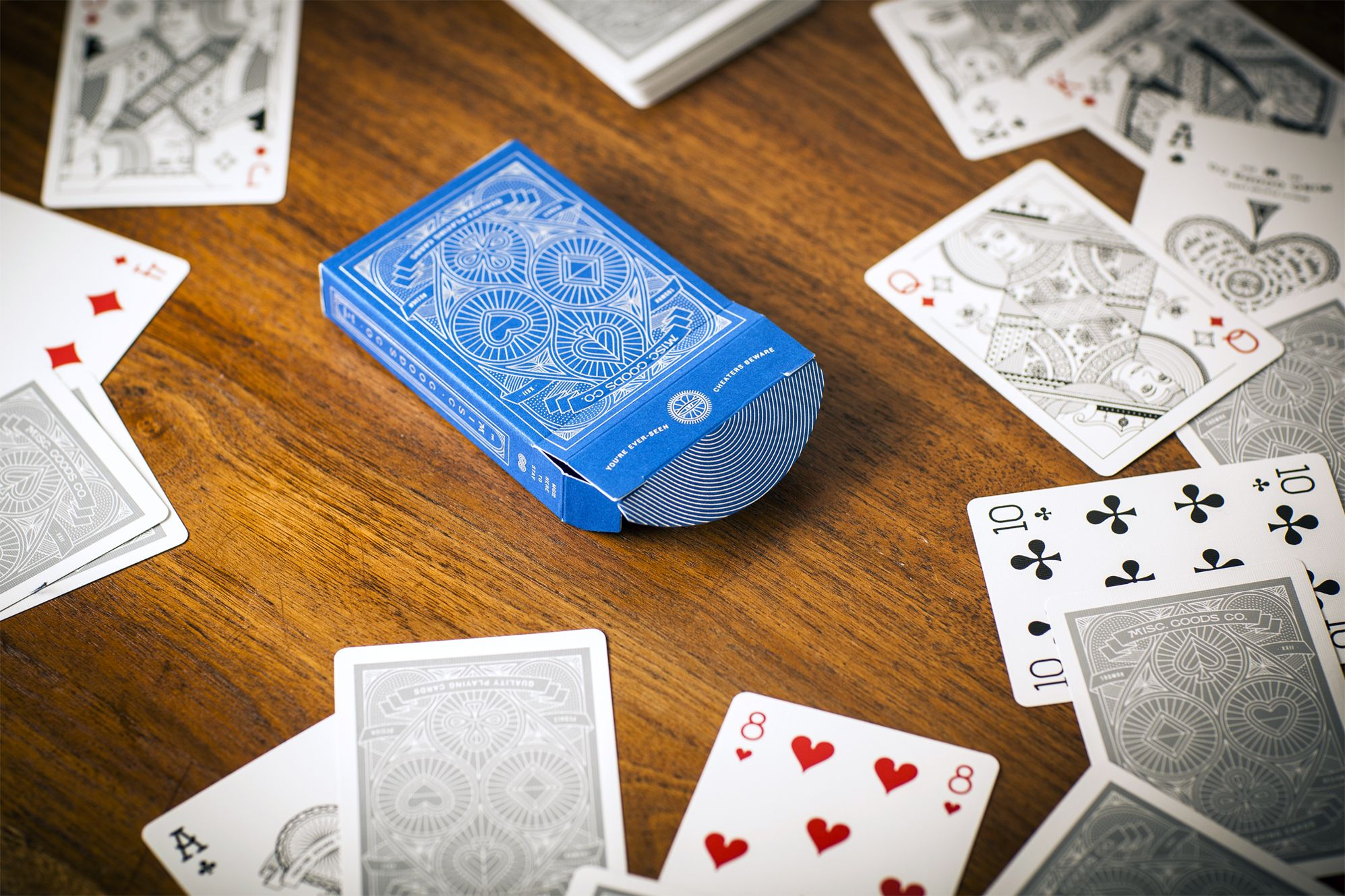 blue deck  custom playing cards cards