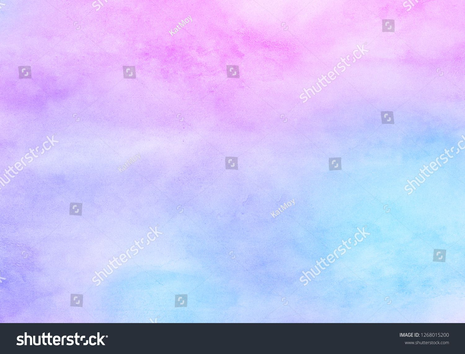 Fantasy Light Blue Purple And Pink Shades Watercolor Background