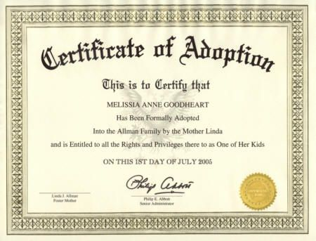 picture about Printable Fake Adoption Papers known as Phony ADOPTION Certification Presents Beginning certification