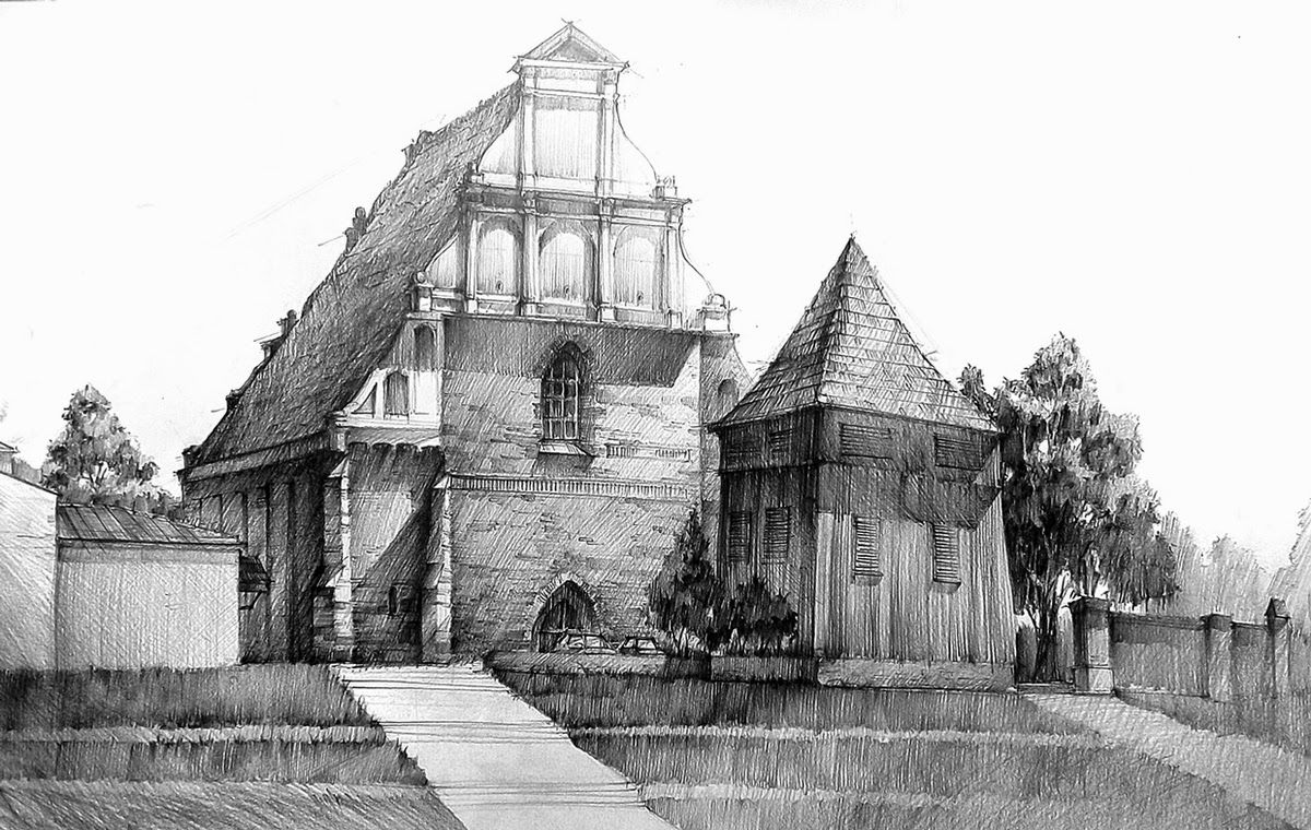 Architectural Drawings Of Buildings 11-st-wojciech-church-Łukasz-gać-domin-poznan-architectural