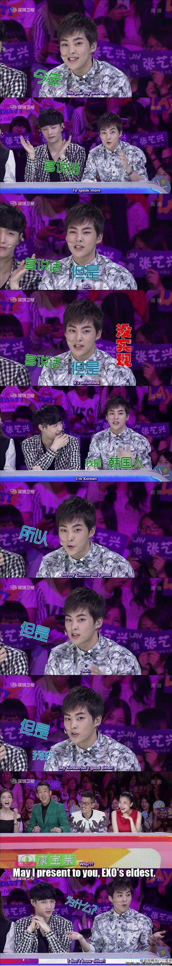 Awww Xiumin when I watched this I died he sang, danced and was absolutely adorable!
