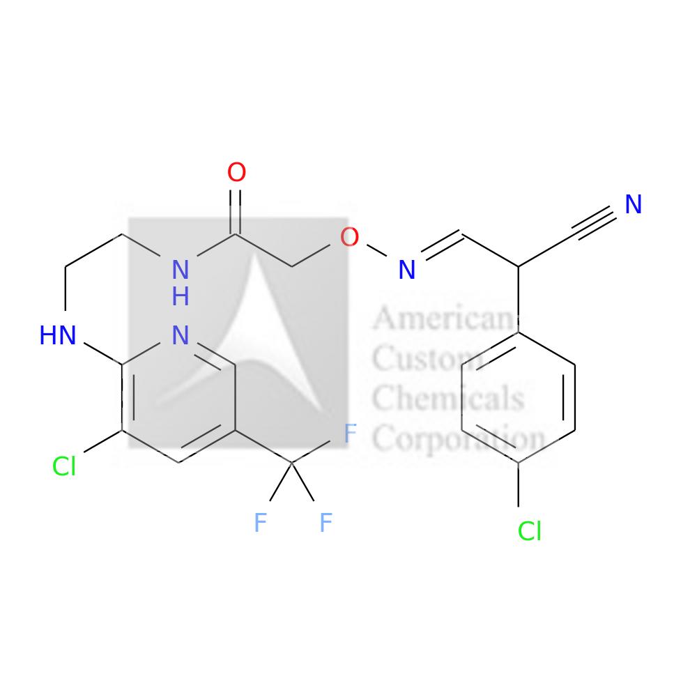 2-(((2-(4-CHLOROPHENYL)-2-CYANOETHYLIDENE)AMINO)OXY)-N-(2-((3-CHLORO-5-(TRIFLUOROMETHYL)-2-PYRIDINYL)AMINO)ETHYL)ACETAMIDE is now  available at ACC Corporation