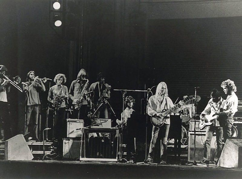 The Gregg Allman Tour 1974 Gregg On Stage With Cowboy During His Tour In Support Of The 1973 Release Of His First Solo Studio Studio Album Greggs Cool Bands