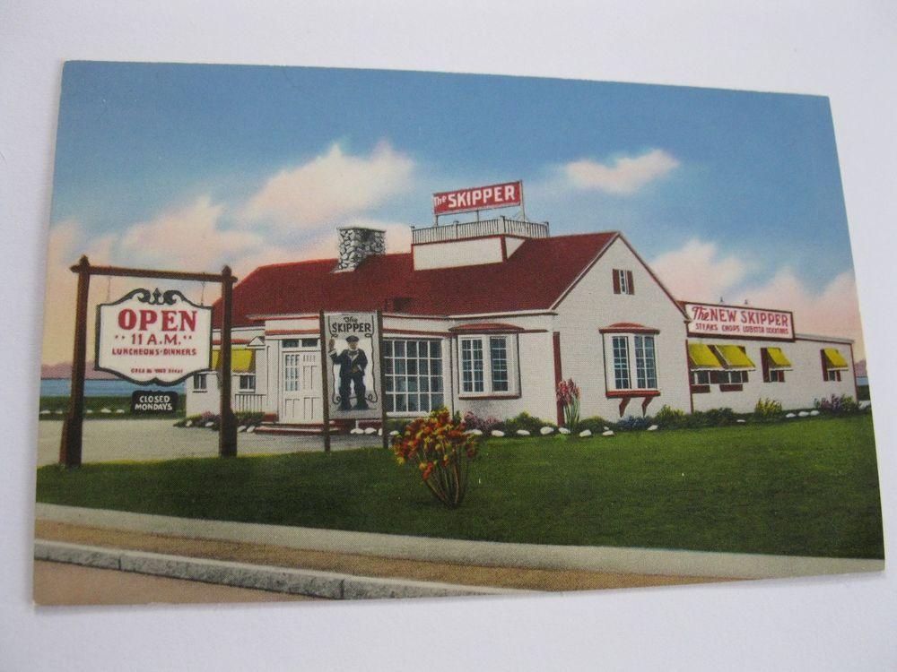 Skippers Cape Cod Part - 19: Vintage Skipper Restaurant Gateway Cape Cod Postcard Lobster Fairhaven MA  AAA 6