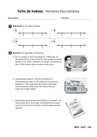 fichas de trabajo fracciones y probabilidad | física | Pinterest ...