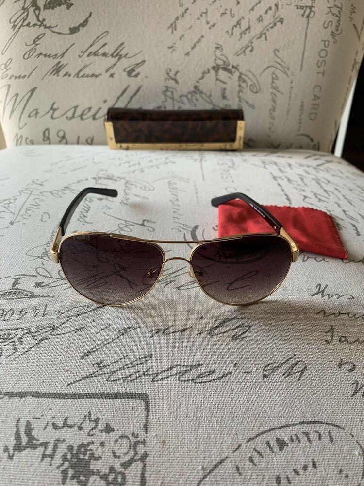 0163ffb5c9d4 TORY BURCH TY 6010 106/13 Aviator Sunglasses Gold & Black Non Polarized.
