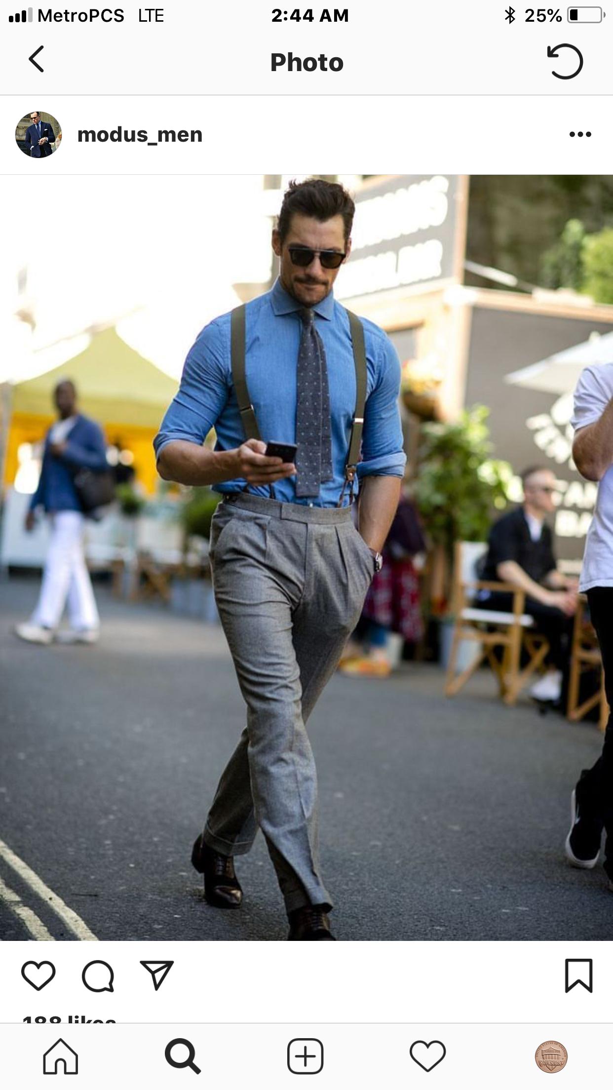 Suspenders | London fashion week mens, David gandy suit ...