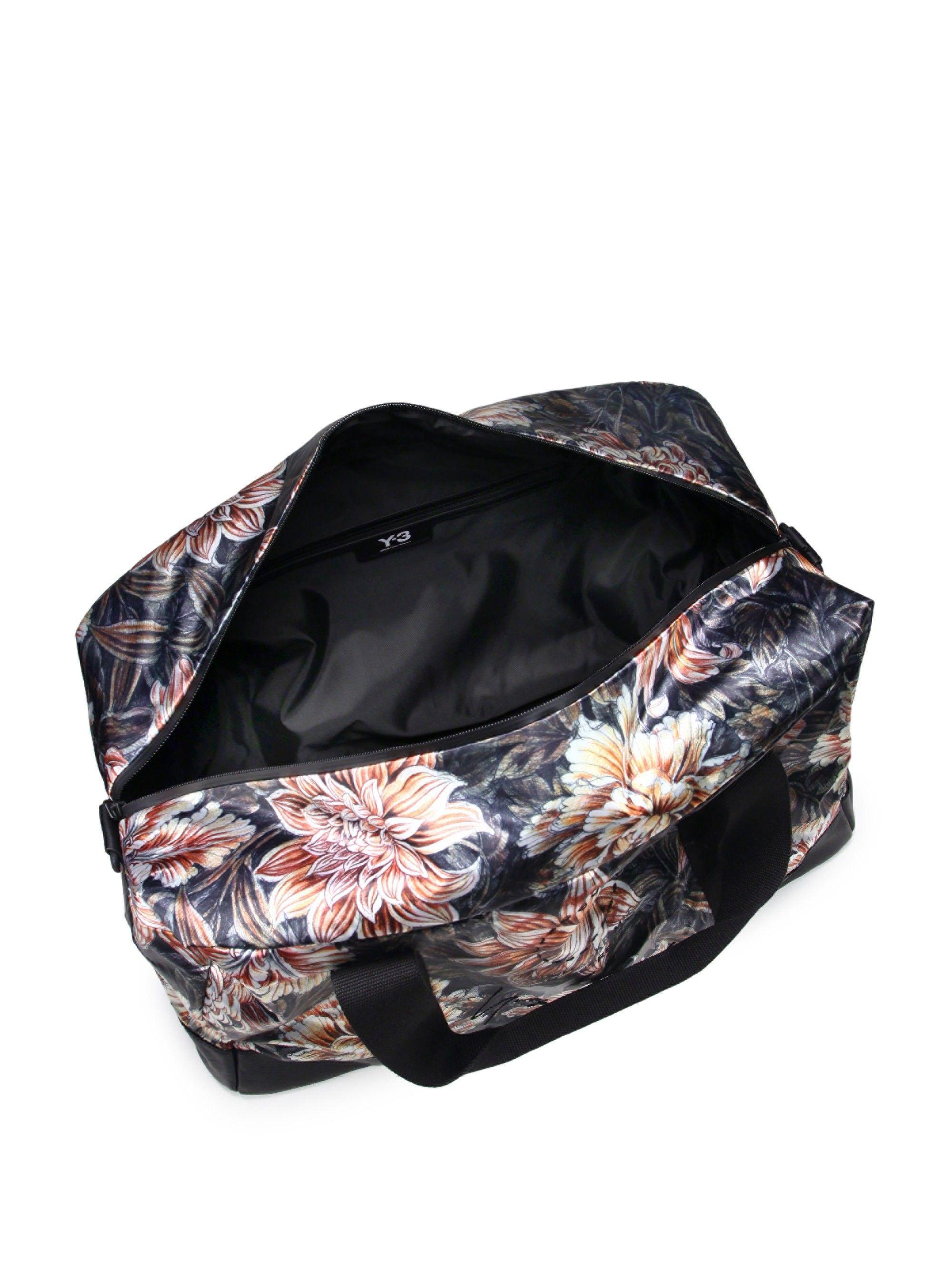 ec798531759c ... timeless design e8257 d56da Y-3 Floral-Print Weekender Duffle Bag - Aop  Apogee ...