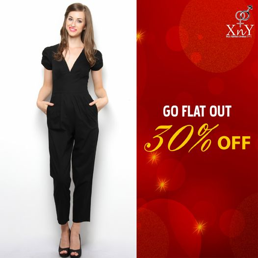 Shop this Button Detail Cotton #Jumpsuit at FLAT 30% OFF. Click to shop: http://goo.gl/jp2FXA
