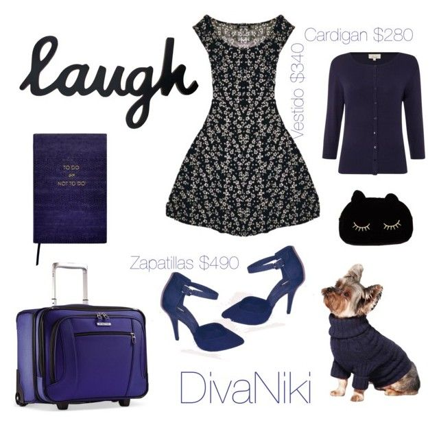 """""""LAUGH"""" by divanikii on Polyvore featuring Linea, Samsonite, Sloane Stationery, Franz Collection, WithChic, women's clothing, women's fashion, women, female and woman"""