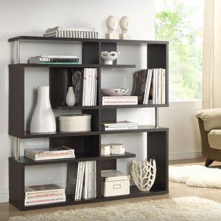 baxton studio ronan dark brown espresso modern storage shelf rh pinterest com Shelves Modern Design Modern Shelving Systems