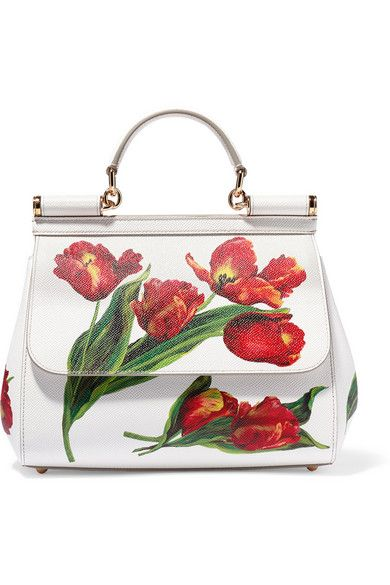 Dolce & Gabbana - Sicily medium floral-print textured-leather tote