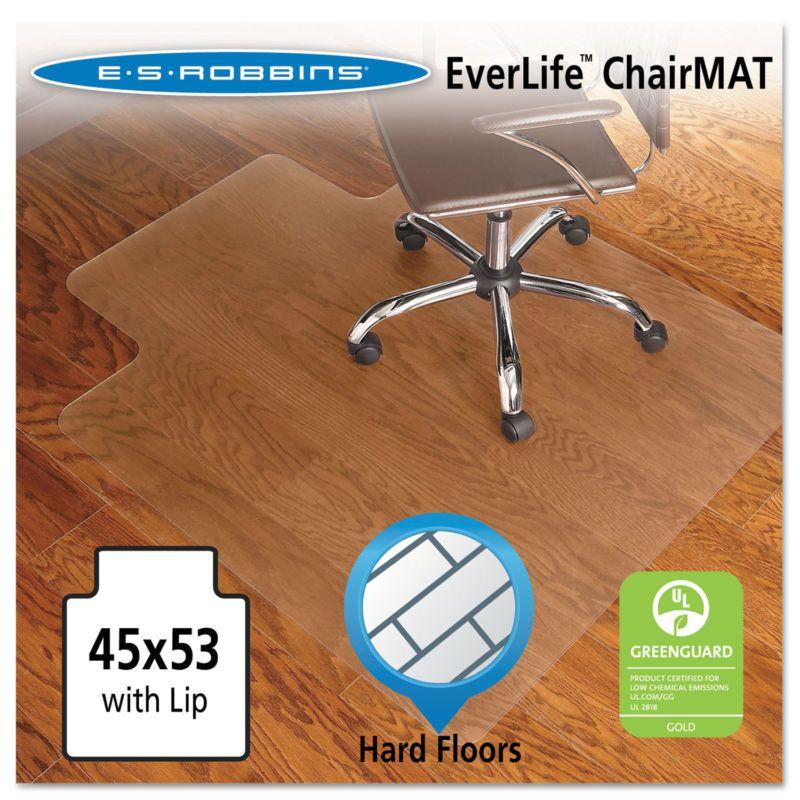 Es Robbins 45x53 Lip Chair Mat Economy Series For Hard Floors 131823 Hard Floors Series Economy Chair Robbins Chair Mats Hard Floor Vinyl Chairs