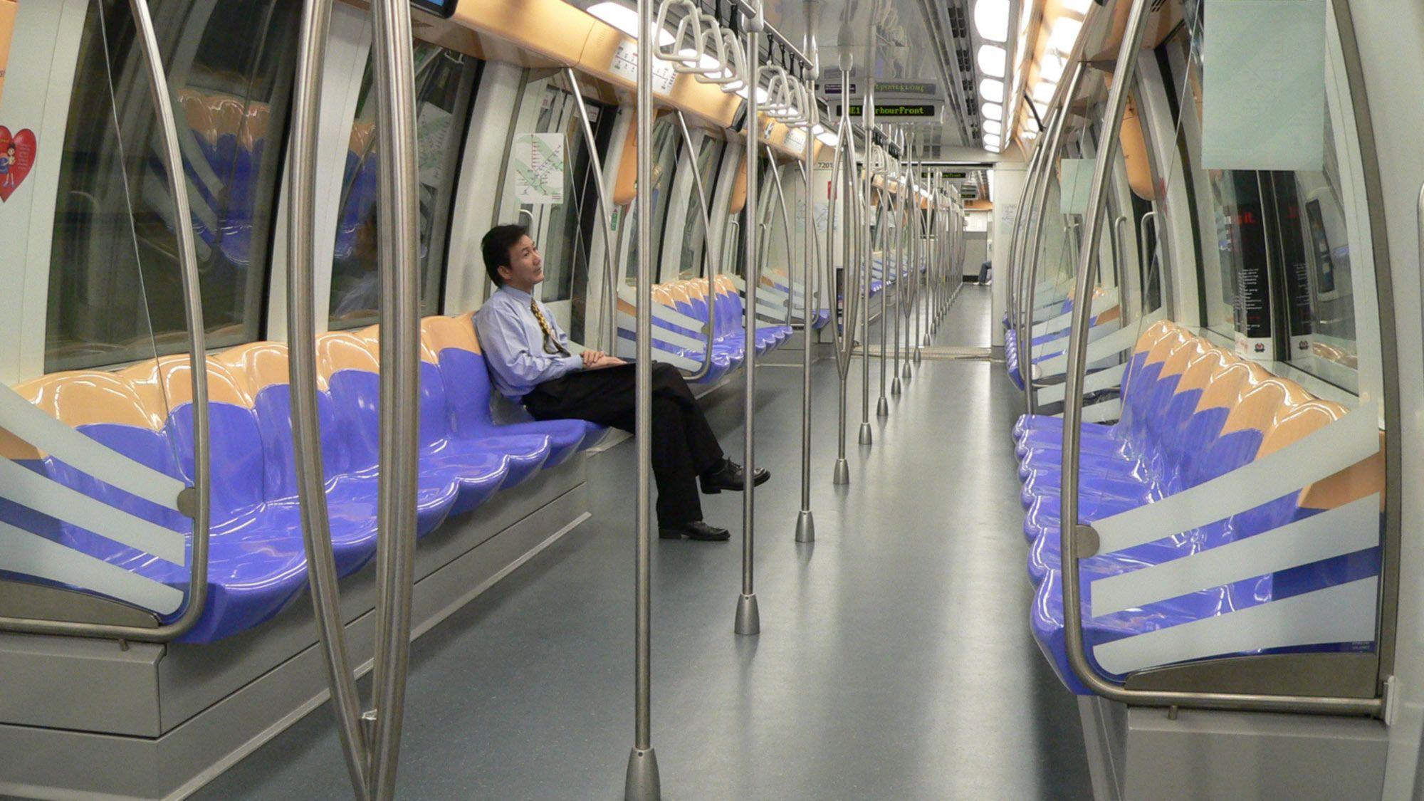 Alstom Singapour Metro Interior LRV Pinterest Car interior