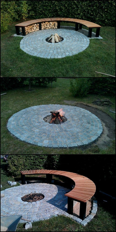 Photo of 26+ Circle Bank around your fireplace #diyfirepit #firepitplans #firepitideas ⋆ …