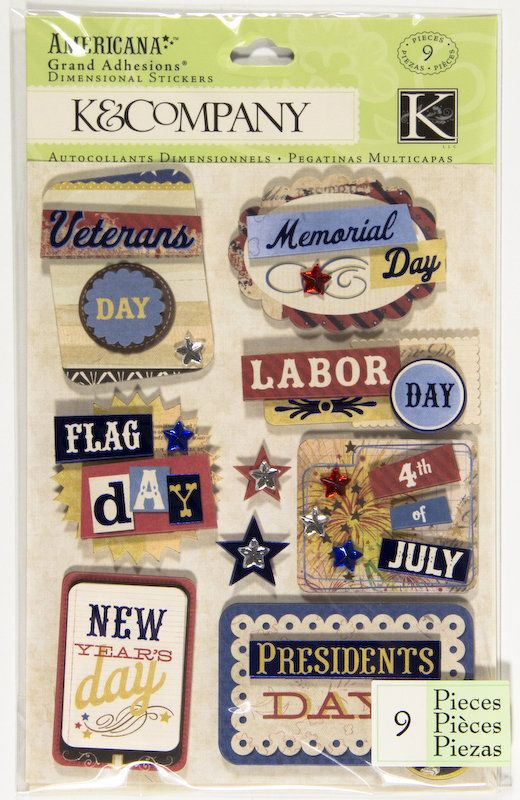 K & Company American Patriotic Holiday Grand Adhesions