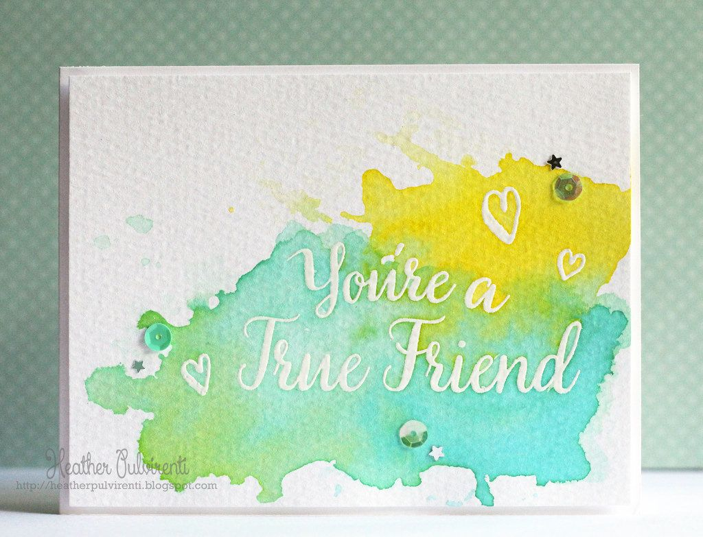 My favorite things just because thinking of you card friendship