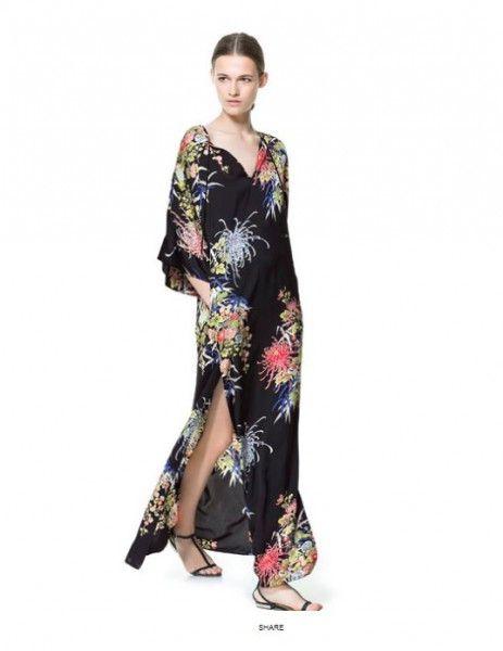 save off 125f9 44f32 vestiti-lunghi-da-sera-estivi-2013-zara-floreale | Ya know ...