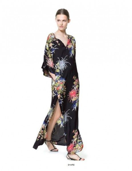 Abiti Da Sera Zara 2018.Vestiti Lunghi Da Sera Estivi 2013 Zara Floreale Vestiti Stile
