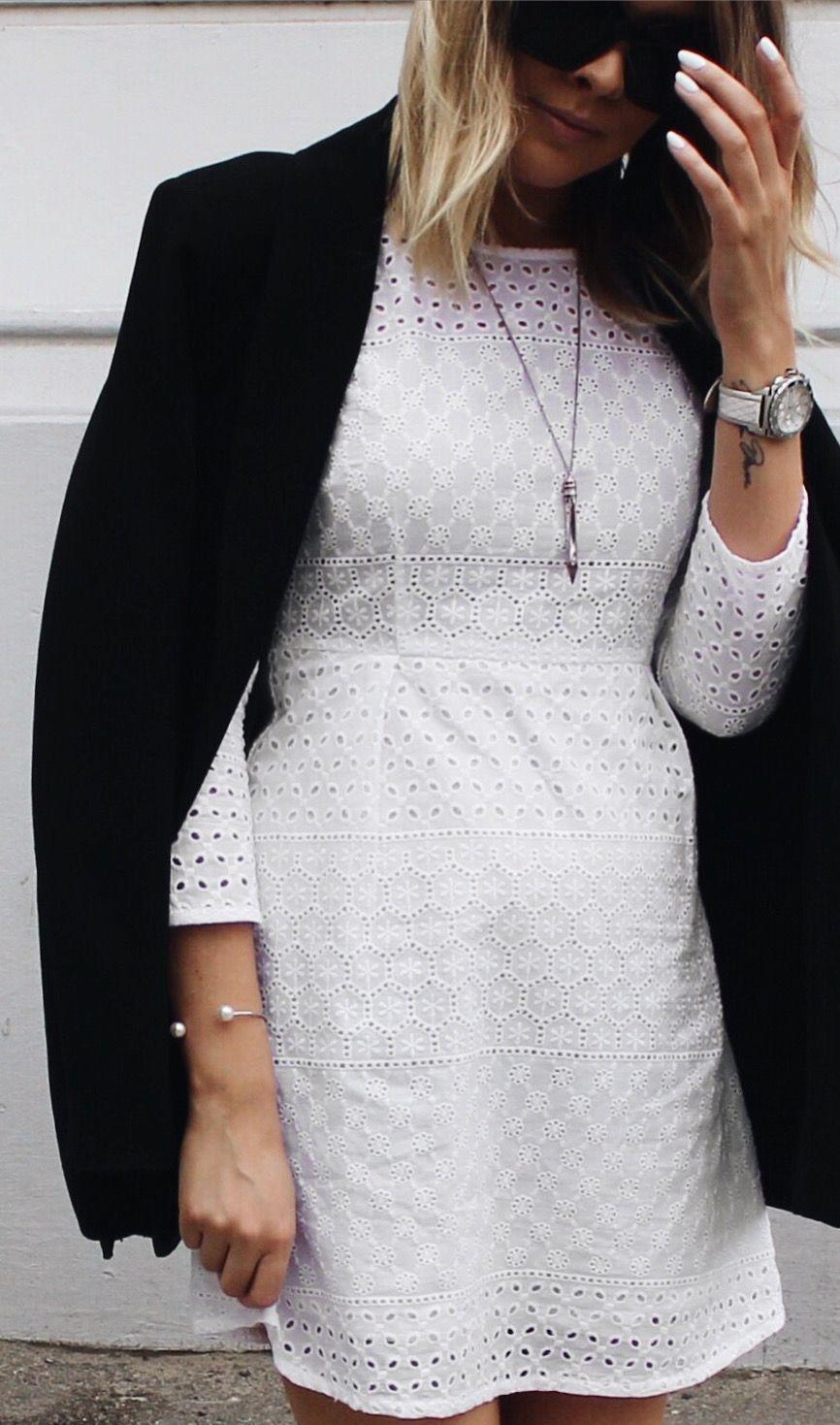 Ariana Kjole | Tøj, Hvid kjole, Kjole