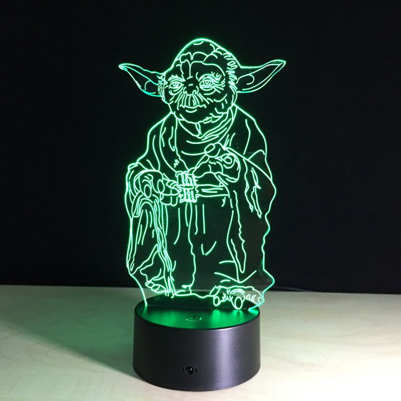 3d Illusion Master Yoda Star Wars Led Night Lamp Http Ali Pub 1g3to5 Creative Star Wars Illusion 3d Night Light 3d Led Night Light Star Wars Light 3d Light