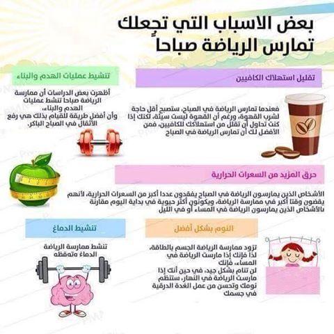 اسباب تجعلك تمارس الرياضة صباحا Health Images Healthy Tips Health