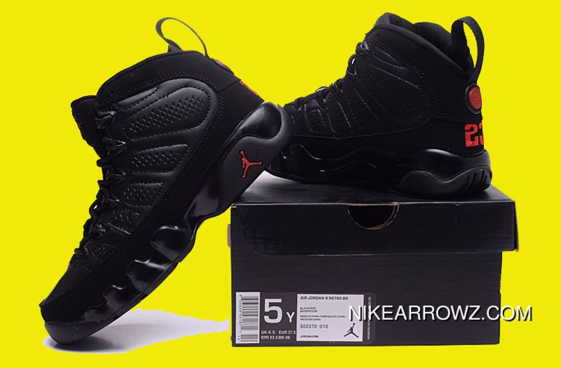 01176e39 2018 Air Jordan 9 Bred Black/Anthracite-University Red New Style in ...