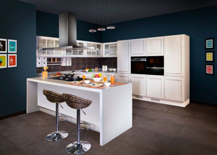 Charming Premium 5 Piece Veneer Finished Island Kitchen. #veneer #islandkitchen