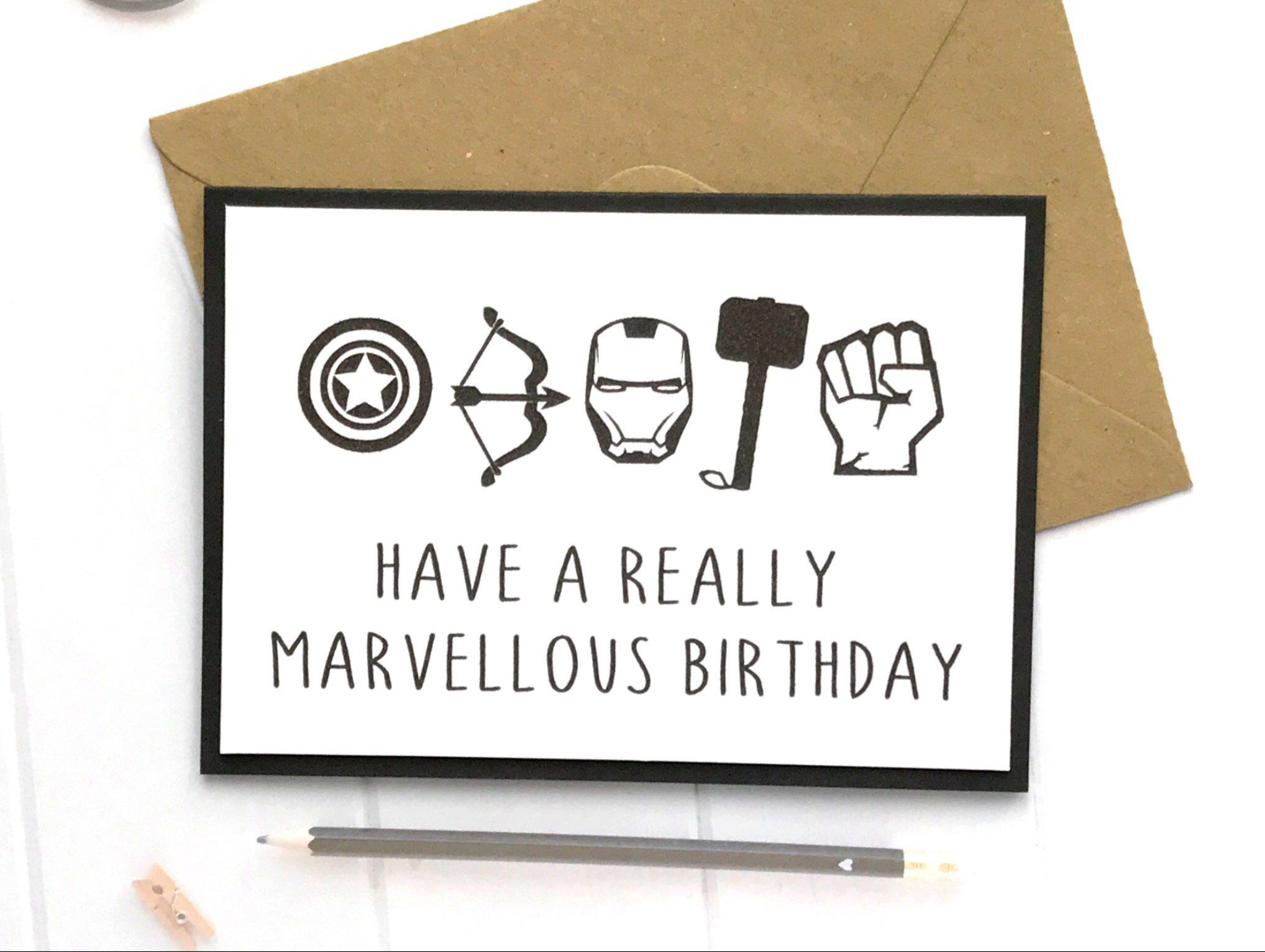 Excited To Share This Item From My Etsy Shop Avengers Card Marvel Card Marvel Birthday Card Marvel Gi Funny Birthday Cards Birthday Cards Diy Marvel Cards