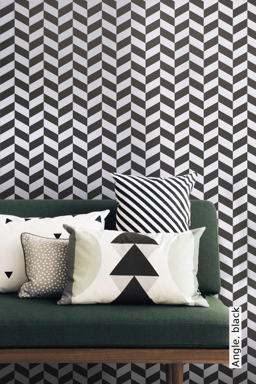 15++ Tapete schwarz weiss geometrisch Sammlung