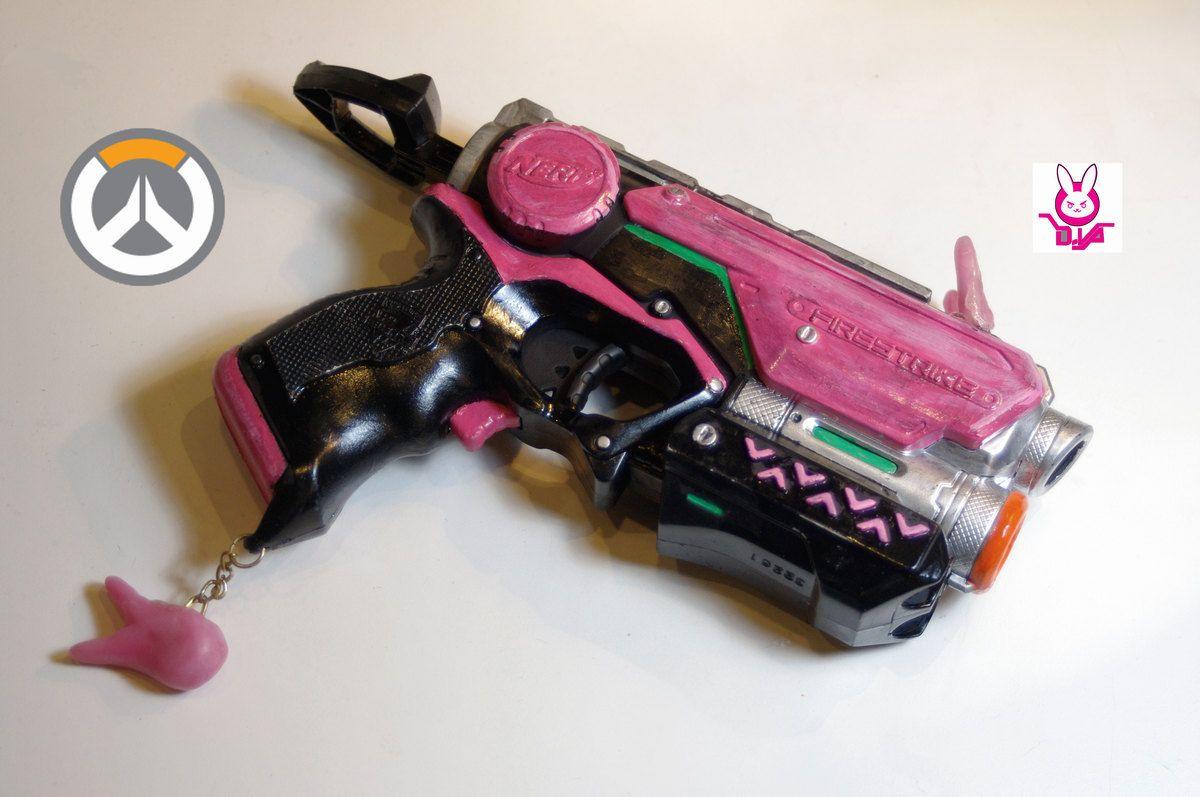 Nerf Overwatch D. Va inspired pistol
