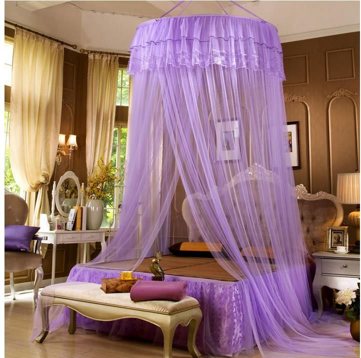 Luxo mosquito net para cama princesa pal cio de cortina copa de cortinas mosquiteiro adulto - Cortinas para cama ...