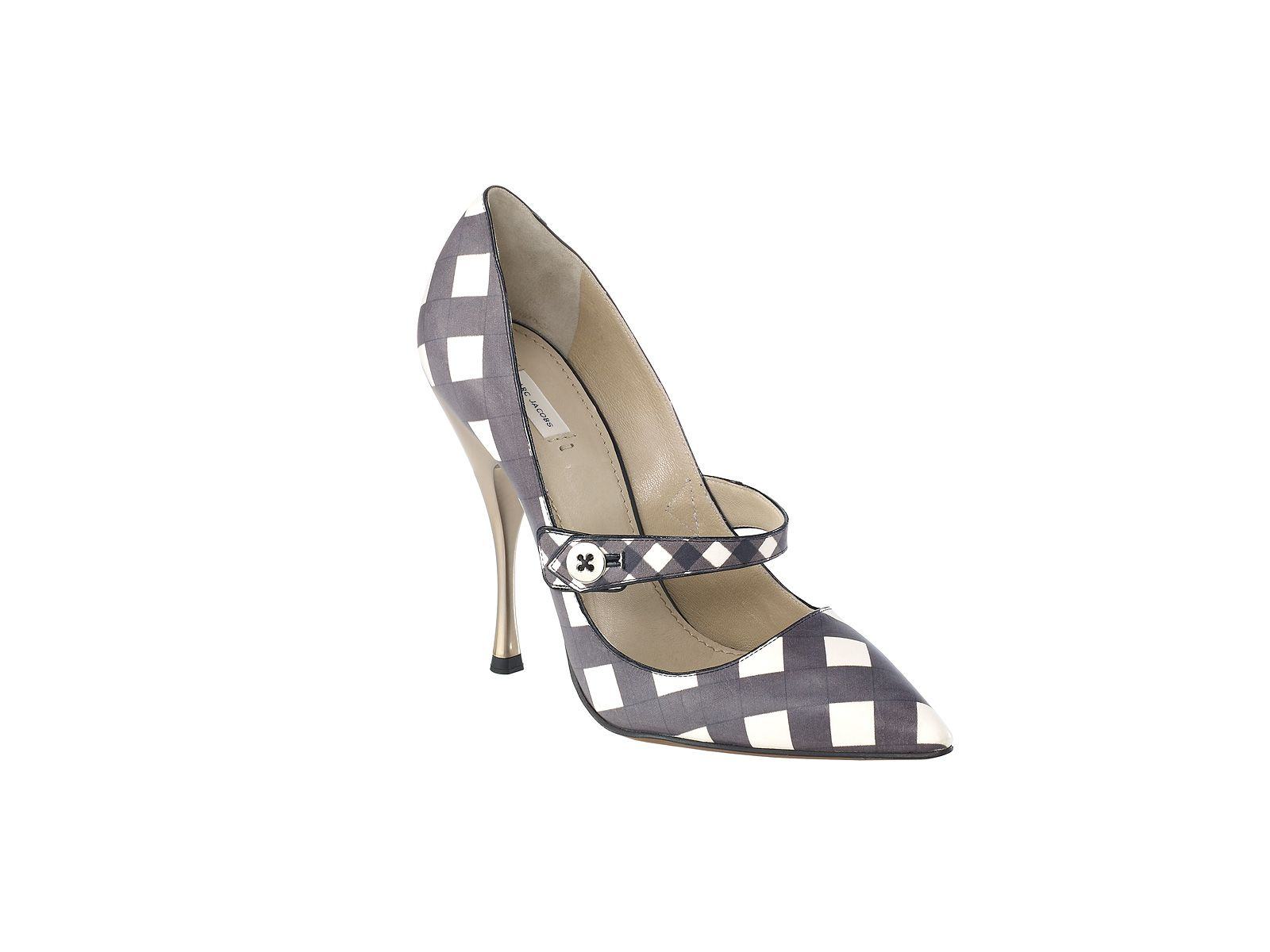 marc jacobs gingham heels