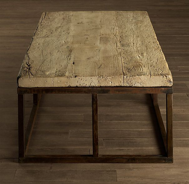 Rh French Beam Coffee Table: Reclaimed French Floorboard Coffee Table Small