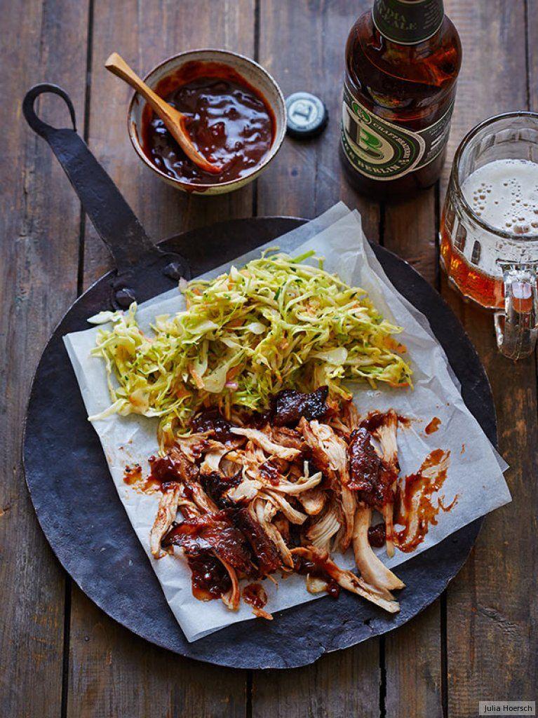 Pulled Chicken mit Spitzkohl-Slaw Rezept