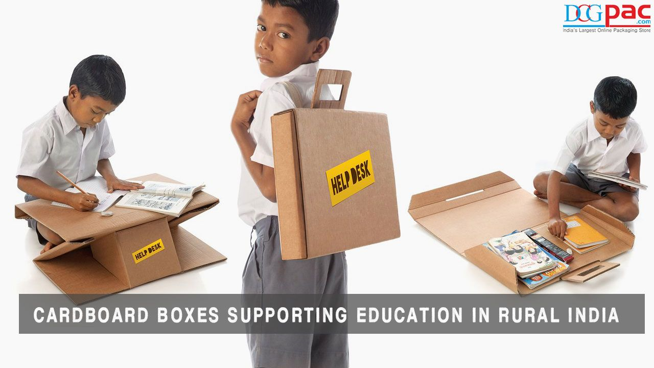 Cardboard Boxes Transformed Into Desks and School Bags In ...