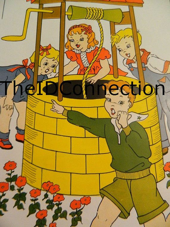 1957 Nursery Rhyme Poster Ding Dong Bell by TheIDconnection | All ...