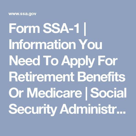 25+ parasta ideaa Pinterestissä Retirement benefits - social security administration form