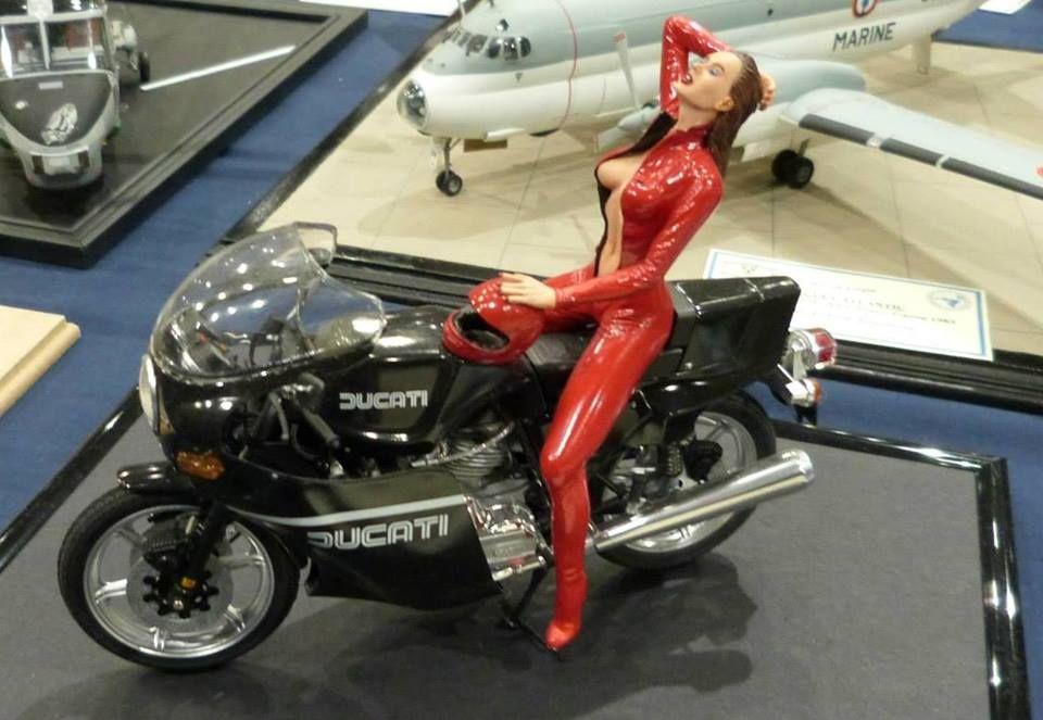 Bike with resin figure.
