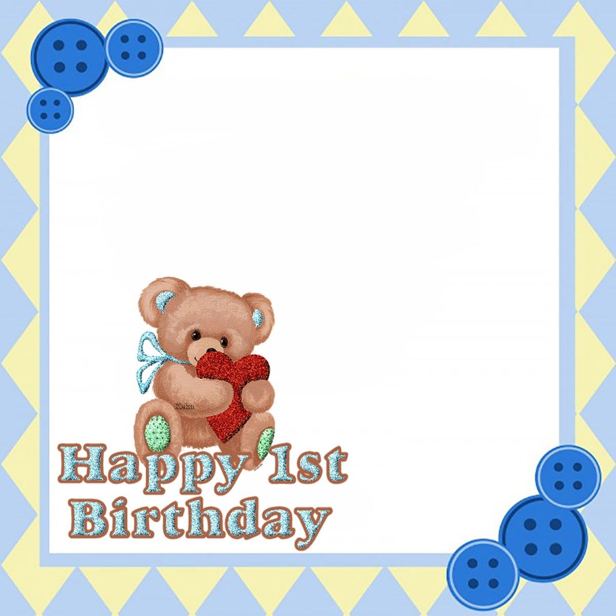 Printable Teddy Bear First Birthday Invitation Card First Birthday Invitation Cards Bear Invitations Printable Birthday Invitations