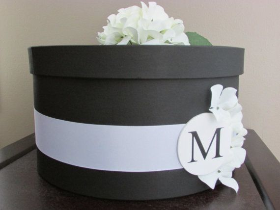 Black and White Wedding Card Box, Wedding Card Holder by ...
