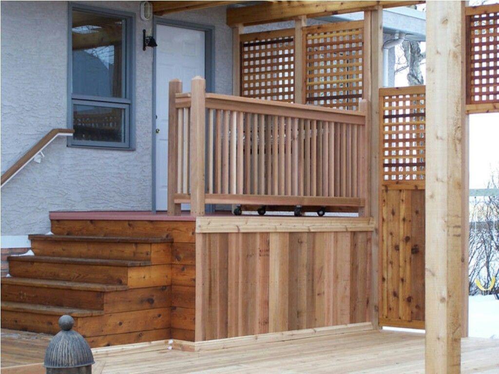 Stairs   Deck railings, Cedar deck, Railing design