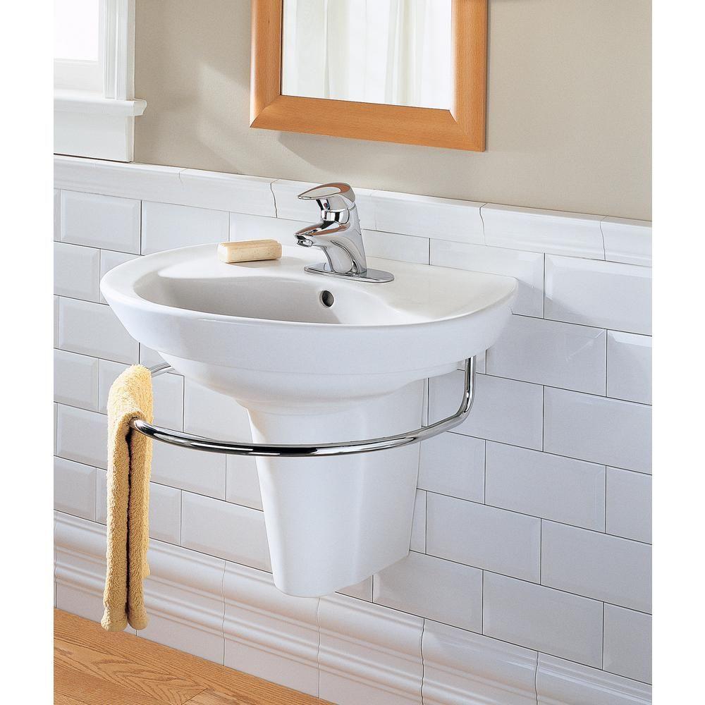American Standard Ravenna Wall Mounted Pedestal Combo Bathroom Sink