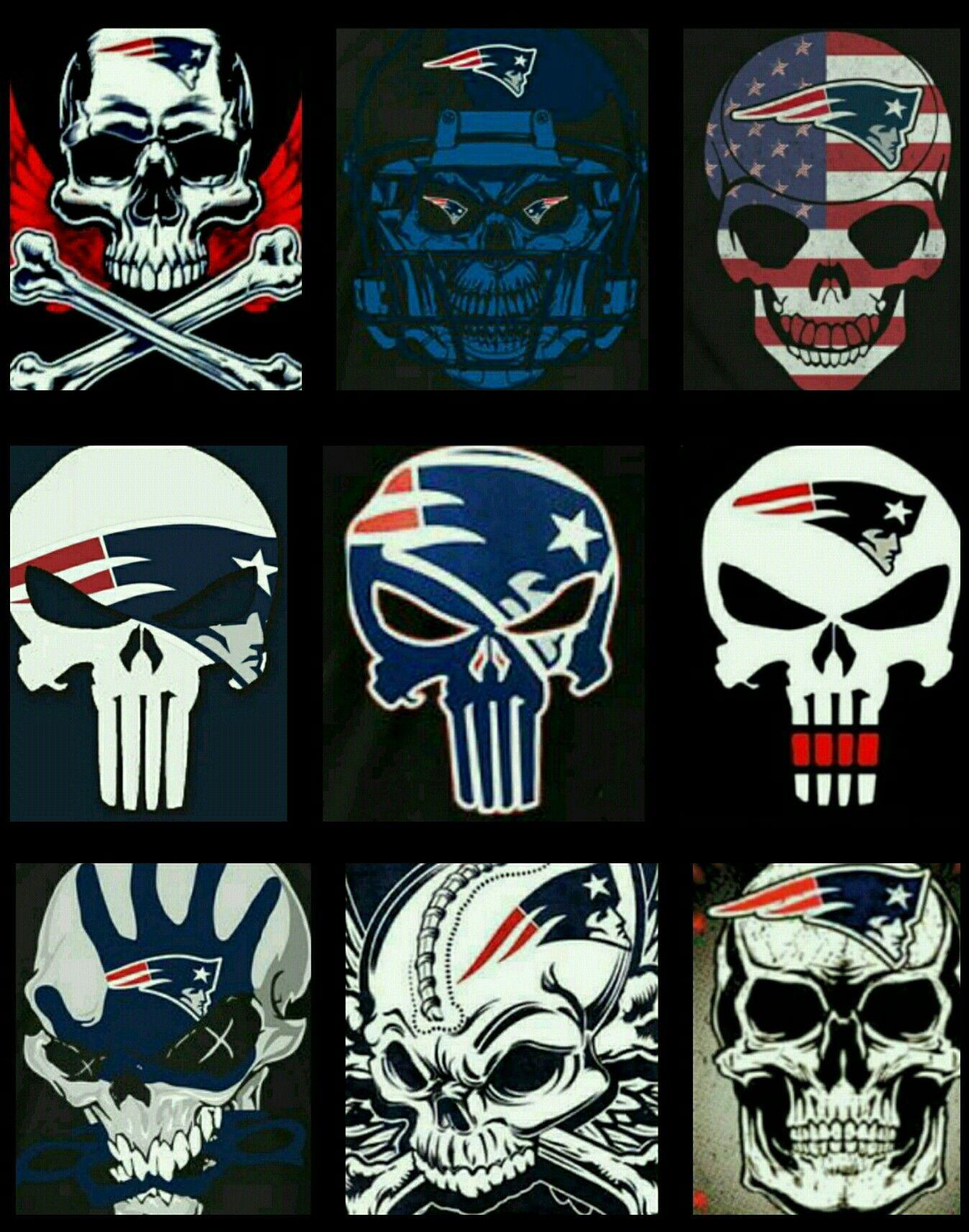 Patriots Skulls | Patriots | Patriots, Nfl patriots, New ...